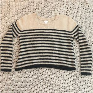 Cropped, striped, lightweight BP sweater